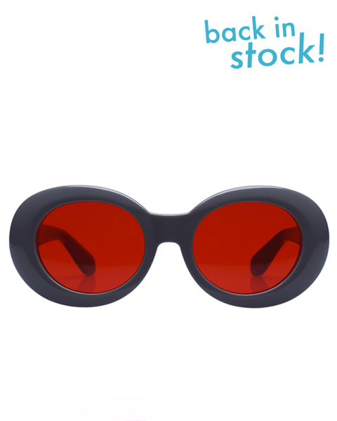Diminish Charcoal Red Sunglasses - MAGIC PERIOD