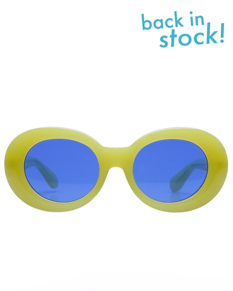 Diminish Neon Yellow Blue Sunglasses - MAGIC PERIOD
