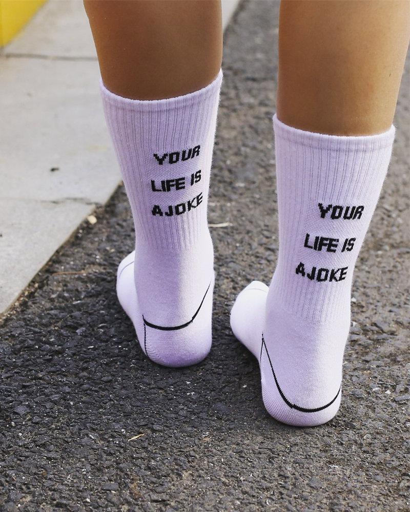 Your Life Is A Joke Socks - MAGIC PERIOD