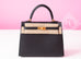 Noir Black GHW Sellier Epsom Kelly 25 Handbag
