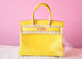 Hermes Mimosa Yellow GHW Crocodile Alligator Birkin 30 Handbag - New - MAISON de LUXE - 1