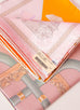 Hermes Pink Orange Twill Silk 90 cm Cannes et Cannes Scarf