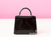 Hermes Noir Black Sellier Crocodile Kelly 25 Handbag