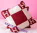 Hermes Classic Red Bordeaux Wool Cashmere Avalon Cushion Pillow - New - MAISON de LUXE - 3