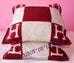 Hermes Classic Red Bordeaux Wool Cashmere Avalon Cushion Pillow - New - MAISON de LUXE - 4