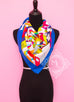 Hermes Blue Red Twill Silk 90 cm On a Summer Day Scarf