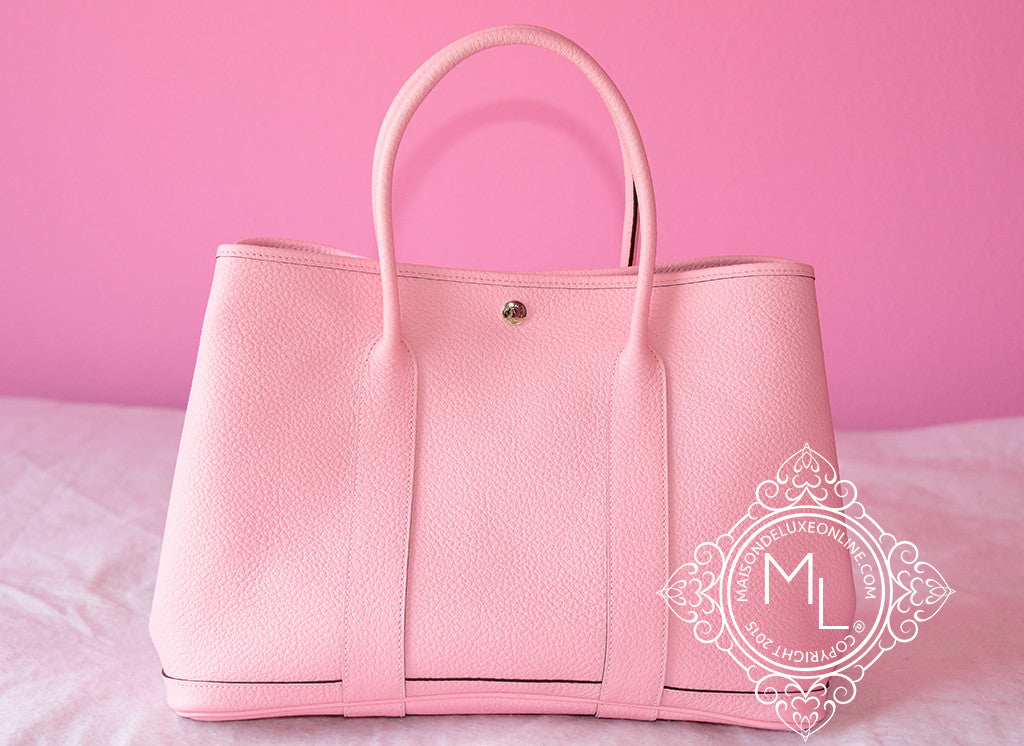 Hermes Pink Rose Sakura Leather 36 Garden Party Handbag - New - MAISON de  LUXE - aa0bf779f5