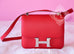 Hermes Rouge Casaque Red Epsom Constance MM 24/25 Handbag - New - MAISON de LUXE - 2