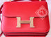 Hermes Rouge Casaque Red Epsom Constance MM 24/25 Handbag - New - MAISON de LUXE - 3