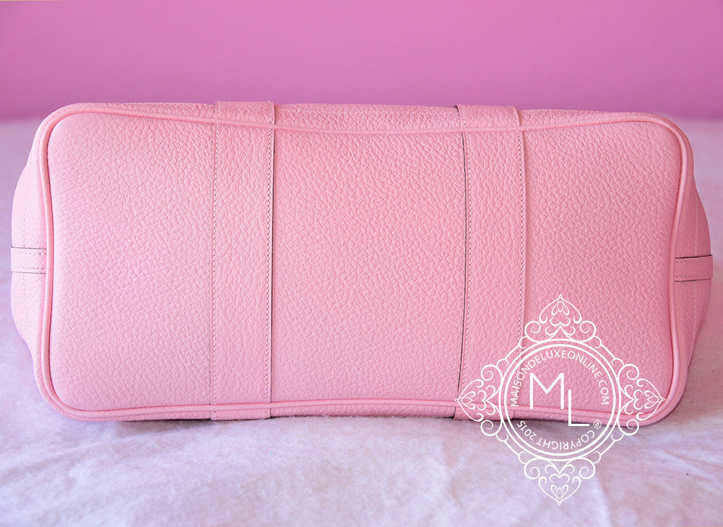 ... Hermes Pink Rose Sakura Leather 36 Garden Party Handbag - New - MAISON  de LUXE ... 29c90b5210