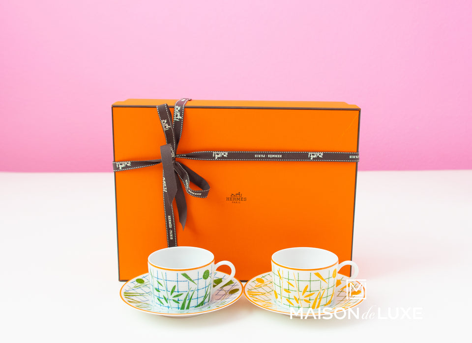 Hermes A Walk in the Garden Tea Cup & Saucer