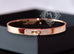 Hermes Rose Gold Pave Diamond Kelly Bracelet Bangle Small - New - MAISON de LUXE - 3