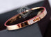 Hermes Rose Gold Pave Diamond Kelly Bracelet Bangle Small - New - MAISON de LUXE - 4