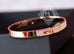 Hermes Rose Gold Pave Diamond Kelly Bracelet Bangle Small - New - MAISON de LUXE - 5