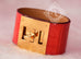 Hermes Red Matte Alligator Crocodile Kelly Dog CDC Bracelet S