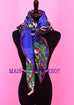 Hermes Cashmere 140 GM Tyger Tyger Blue Fuchsia Shawl Scarf - New - MAISON de LUXE - 3