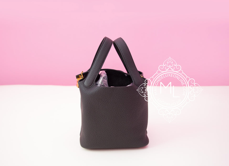 Hermes Black Picotin Lock 18 PM Handbag