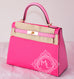 Hermes Rose Tyrien 5P Pink Sellier Kelly 28 Handbag - New - MAISON de LUXE - 3