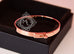 Hermes Rose Gold 4 Diamond Kelly Bracelet Bangle Cuff SH - New - MAISON de LUXE - 5