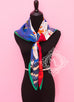 Hermes Blue Red Twill Silk 90 cm Space Shopping au Faubourg Scarf