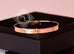 Hermes Rose Gold 4 Diamond Kelly Bracelet Bangle Cuff SH - New - MAISON de LUXE - 7