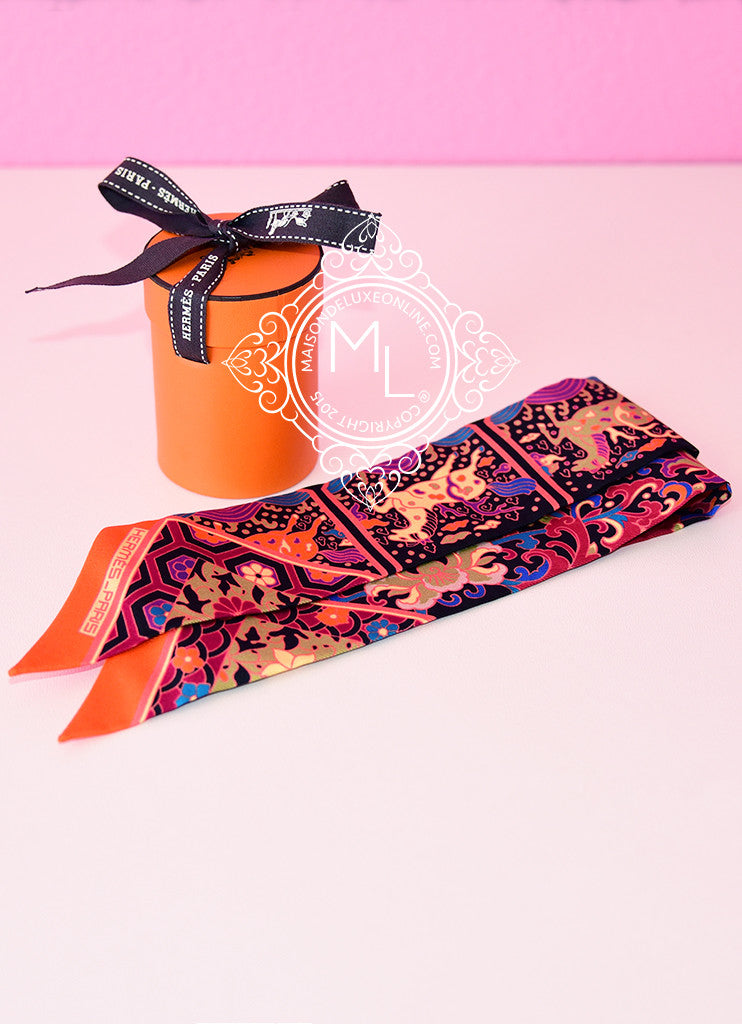 Hermes Collections Imperiales Black Fuchsia Twilly - NEW - MAISON de LUXE - 1
