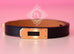 Hermes Noir Black Leather Kelly Double Tour Bracelet S - New - MAISON de LUXE - 3