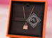 Hermes Rose Gold Diamond Kelly Pendant Necklace - New - MAISON de LUXE - 3