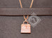 Hermes Rose Gold Diamond Kelly Pendant Necklace - New - MAISON de LUXE - 4