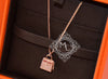 Hermes Rose Gold Diamond Kelly Pendant Necklace - New - MAISON de LUXE - 5