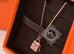 Hermes Rose Gold Diamond Kelly Pendant Necklace - New - MAISON de LUXE - 6