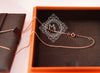 Hermes Rose Gold Diamond Kelly Pendant Necklace - New - MAISON de LUXE - 8