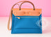 Hermes Blue Izmir Canvas Zip Herbag 31 Pm Handbag - New - MAISON de LUXE - 3
