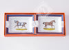 Hermes 2 Porcelain Chevaux à LA Couverture Mini Ashtray / Change Tray - New - MAISON de LUXE - 2