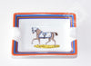 Hermes 2 Porcelain Chevaux à LA Couverture Mini Ashtray / Change Tray - New - MAISON de LUXE - 4