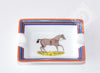 Hermes 2 Porcelain Chevaux à LA Couverture Mini Ashtray / Change Tray - New - MAISON de LUXE - 5