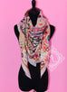 Hermes Cashmere 140 GM Collections Imperiales Gris Perle Rose Pink Shawl Scarf - New - MAISON de LUXE - 1