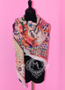 Hermes Cashmere 140 GM Collections Imperiales Gris Perle Rose Pink Shawl Scarf - New - MAISON de LUXE - 6
