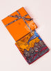 Hermes Orange Twill Silk 90 cm Flowers of South Africa Scarf