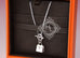 Hermes 925 Solid Silver Kelly Charm Pendant Necklace - New - MAISON de LUXE - 4