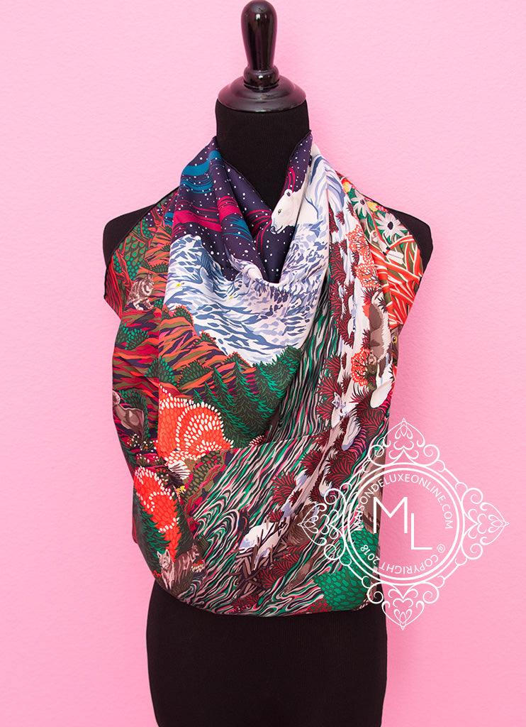 cf41ac4d83cd ... shop hermes red twill silk 90 cm into the canadian wild scarf 6750e  b09b2