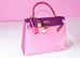 Hermes 5P Pink Rose Shocking Anemone Sellier Chevre Kelly 28 Handbag - New - MAISON de LUXE - 4