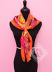 Hermes Orange Twill Silk 90 cm Flamingo Party Scarf