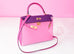 Hermes 5P Pink Rose Shocking Anemone Sellier Chevre Kelly 28 Handbag - New - MAISON de LUXE - 2