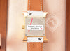 Hermes Gold H Hour Watch PM White Strap Bracelet - New - MAISON de LUXE - 7