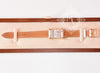 Hermes Gold H Hour Watch PM White Strap Bracelet - New - MAISON de LUXE - 3