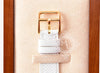 Hermes Gold H Hour Watch PM White Strap Bracelet - New - MAISON de LUXE - 5