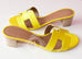 Hermes Womens Jaune Citron Yellow Oasis Sandal Slipper 36.5 Shoes - New - MAISON de LUXE - 2