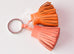 Hermes Orange Crevette Carmen Duo Keychain Bag Charm - New - MAISON de LUXE - 2
