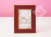 Hermes Classic Pleiade Rouge H Red Leather Photo Frame